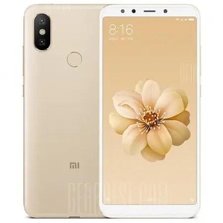 gearbest Xiaomi Mi A2 Snapdragon 660 MSM8956 Plus 2.2GHz 8コア GOLD(ゴールド)