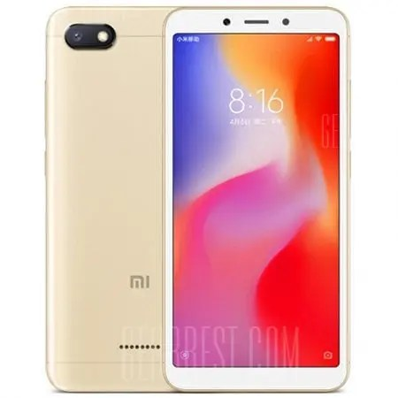 gearbest Xiaomi Redmi 6A MTK6765 Helio A22 2.0GHz 4コア CHAMPAGNE(シャンペン)