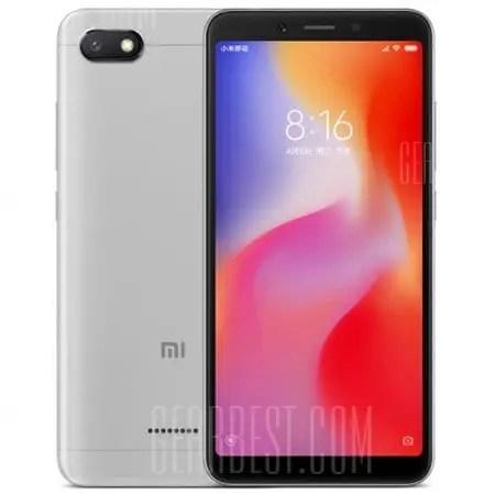 gearbest Xiaomi Redmi 6A MTK6765 Helio A22 2.0GHz 4コア GREY(グレイ)
