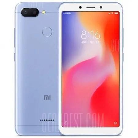 gearbest Xiaomi Redmi 6 MTK6762 Helio P20 2.0GHz 8コア BLUE(ブルー)