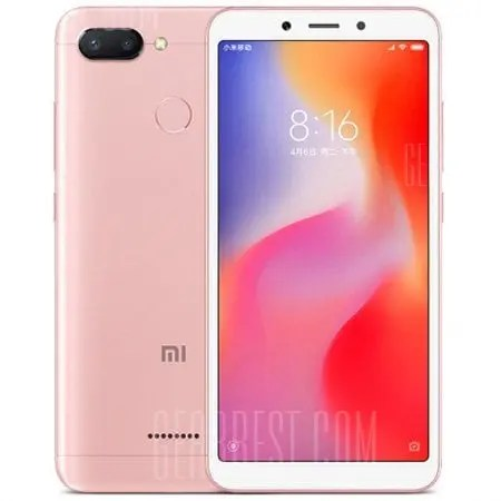 gearbest Xiaomi Redmi 6 MTK6762 Helio P20 2.0GHz 8コア PINK(ピンク)