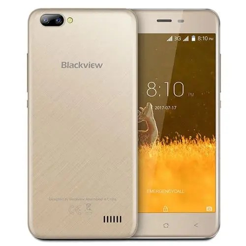 geekbuying Blackview A7 3G MTK6580A 1.3GHz 4コア GOLD(ゴールド)