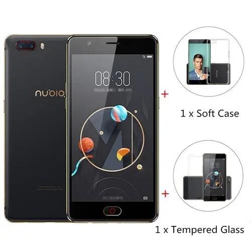 geekbuying ZTE Nubia M2 Snapdragon 625 MSM8953 2.0GHz 8コア BLACK(ブラック)パッケージ