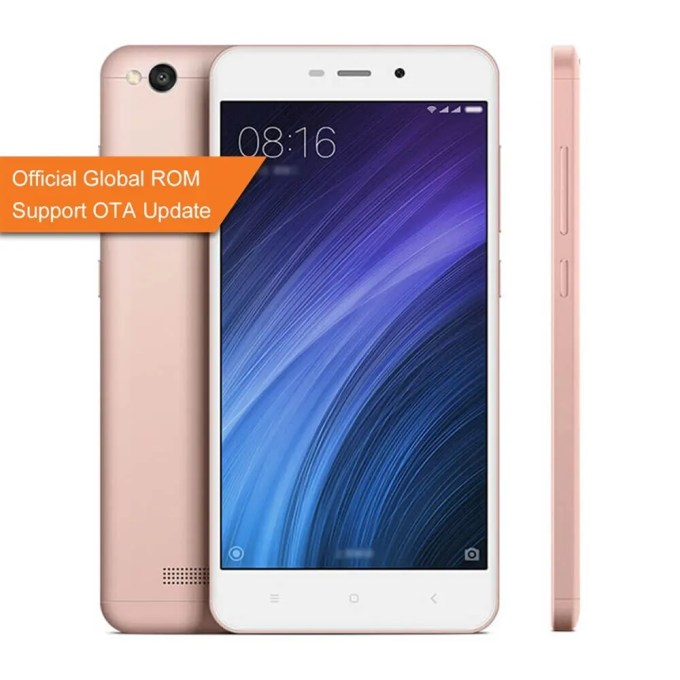 geekbuying Xiaomi Redmi 4A Snapdragon 425 MSM8917 1.4GHz 4コア ROSE GOLD(ローズゴールド)