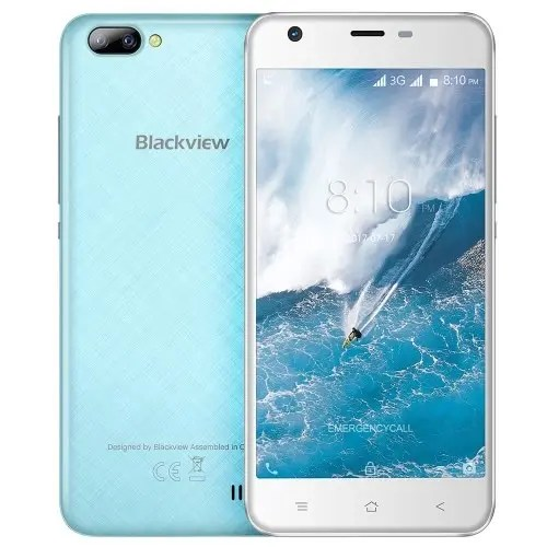 tomtop Blackview A7 3G MTK6580A 1.3GHz 4コア BLUE(ブルー)