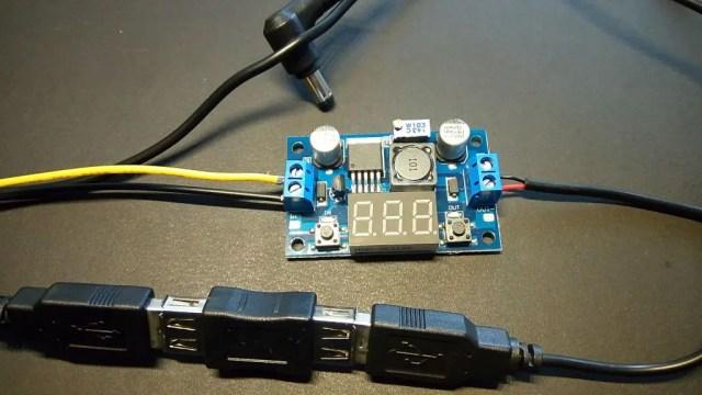 黄色12Vを接続