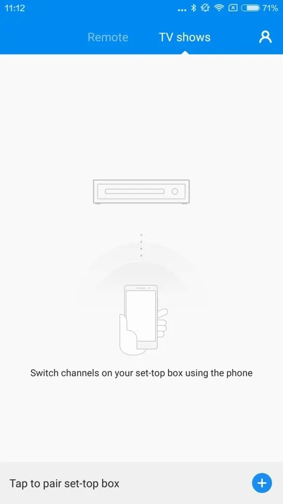 TV showsを選んセットトップボックスを操作できるようだが、ウチには無いので使えない