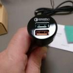 【Aukey】 USBシガーソケットチャージャー 2ポート34.5W Quick Charge 3.0対応 CC-T7 レビュー