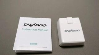 【CACAGOO】OBD2 Bluetooth4.0 OBD-IIスキャナー 自動車診断スキャンツール 20%オフクーポン付き