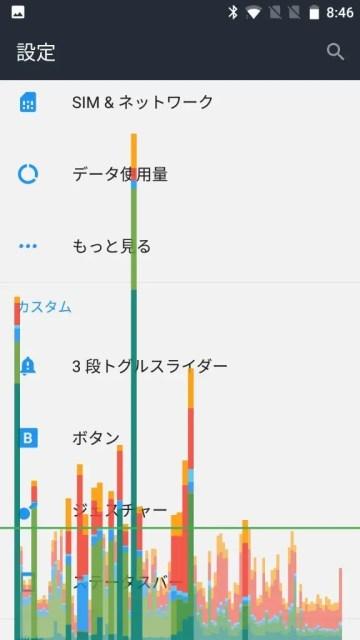 OnePlus 3T GPUレンダリングのプロファイル作成