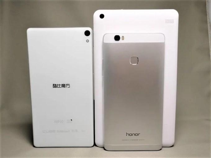Cube iwork 8 Air & WP10 & Huawei honor note 8 裏面 立てかけ