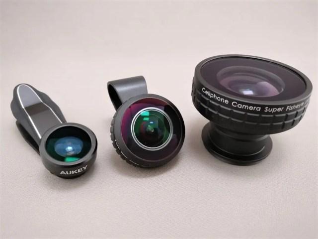 AUKEY 3in1 スマホレンズ PL-A3 15X 魚眼レンズ3つどれも個性的