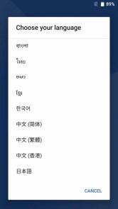 UMI Z 初期設定 日本語選択
