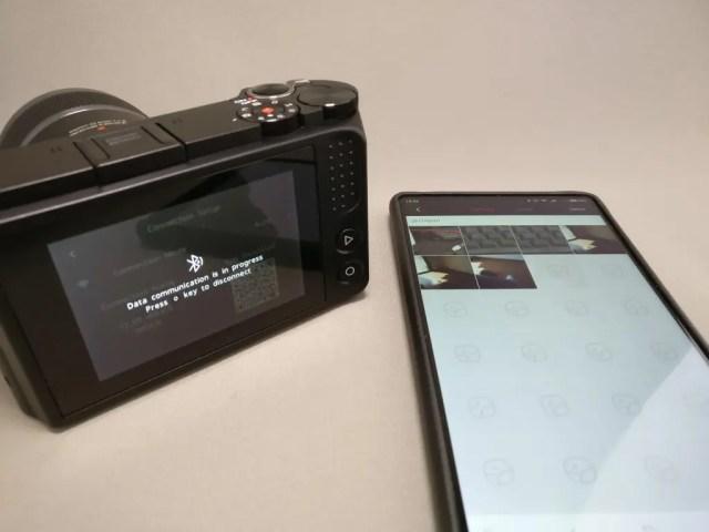 中華ミラーレス一眼 Xiaomi Yi Digital Camera M1  Xiaomi Mi MIXに接続完了