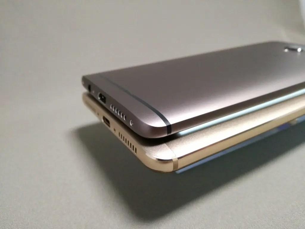 OnePlus 3TとHuawei Mate9 側面左下