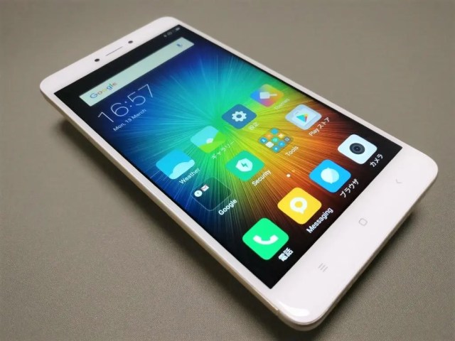 Xiaomi Redmi Note 4X 表面左斜