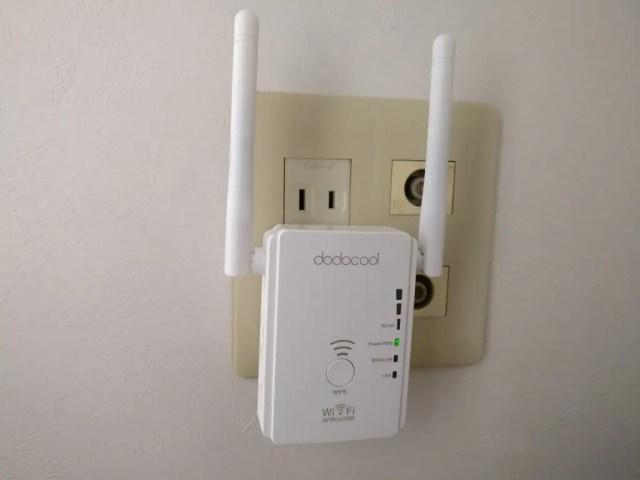 dodocool N300 Wifiルーター・中継器・APモード 3役 11g/b/n対応 300Mbps コンセント直挿し コンセントに刺す