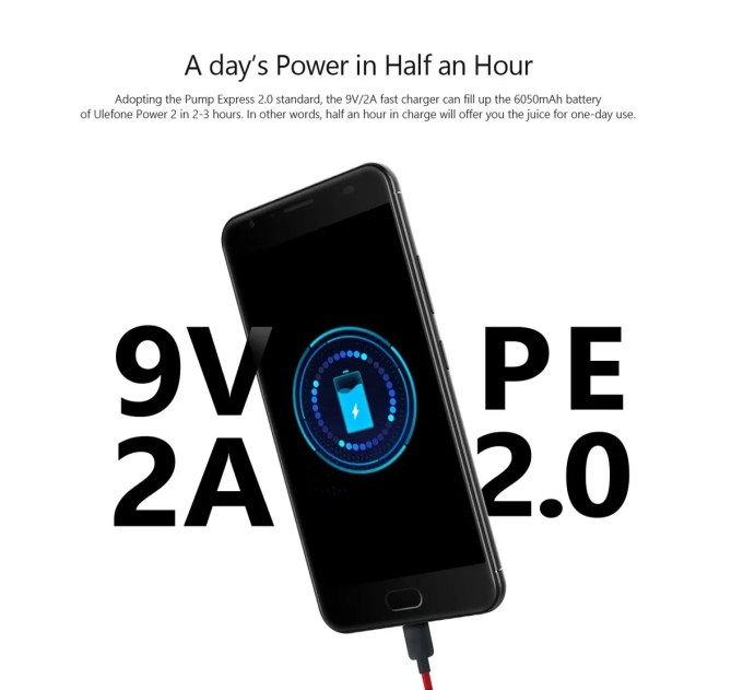 Ulefone Power 2  9V 2A
