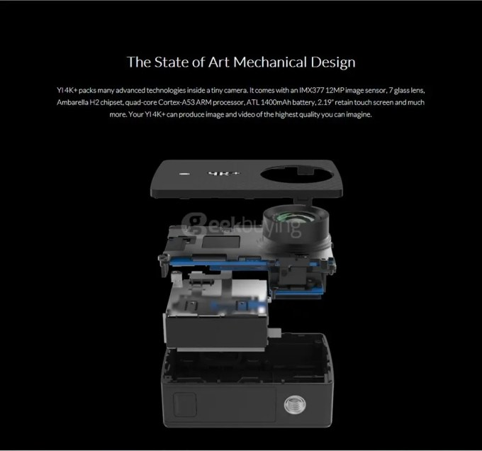 YI-4K-Plus-Ultra-HD-Action-Camera-Ambarella-H2-SONY-IMX377-Art-mechanical design