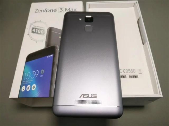 ASUS Zenfone Max 3 開封 裏