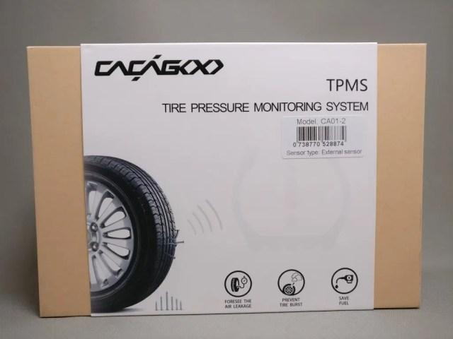 CACAGOO TPMS タイヤ空気圧監視システム 化粧箱表
