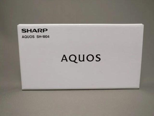 楽天モバイル シャープ SH-M04 化粧箱 表