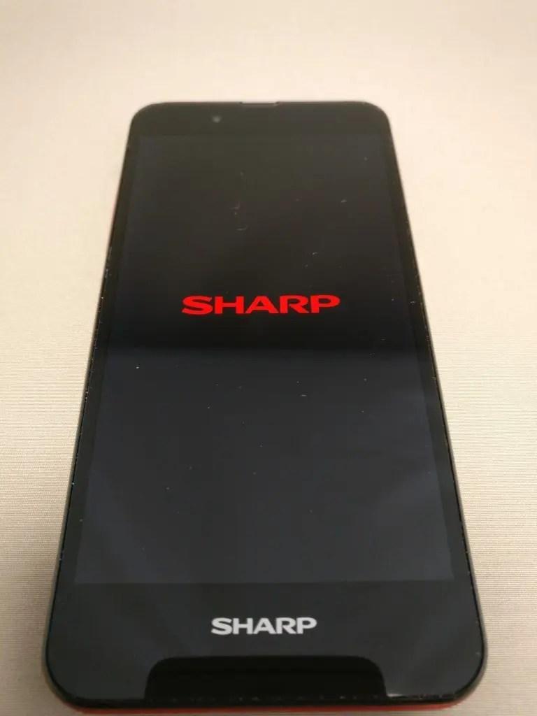 楽天モバイル シャープ SH-M04 起動2