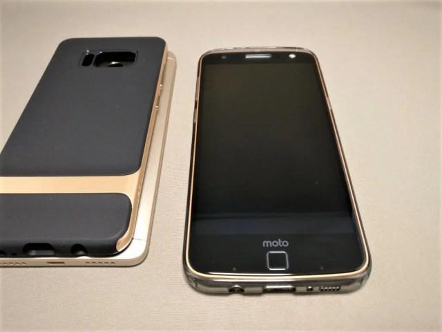 Galaxy S8+ ケース Lenovo Moto Zに装着できた