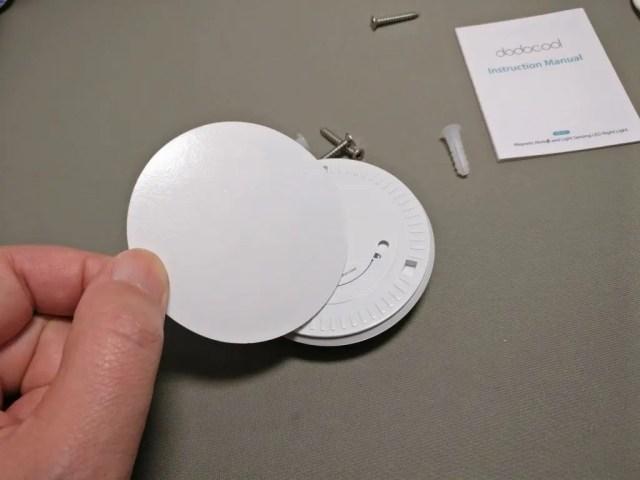 dodocool 0.5Wx5LEDセンサーライト 取り付けシール