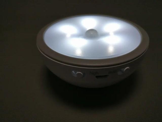 dodocool 0.5Wx5LEDセンサーライト 5灯LED