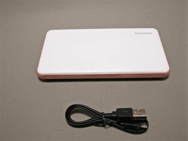 rock space 10000mAh モバイルバッテリー 付属品  USBケーブル