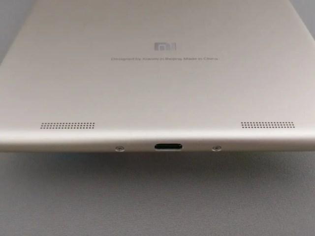 Xiaomi Mi Pad 3 裏面 スピーカー