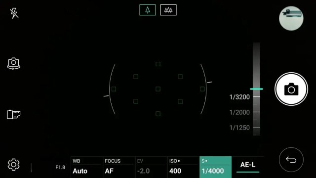 LG V20 Pro カメラ マニュアルモード シャッタースピード 1/4000