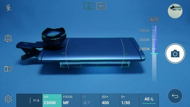 LG V20 Pro カメラ マニュアルモード WB 色温度 2300K
