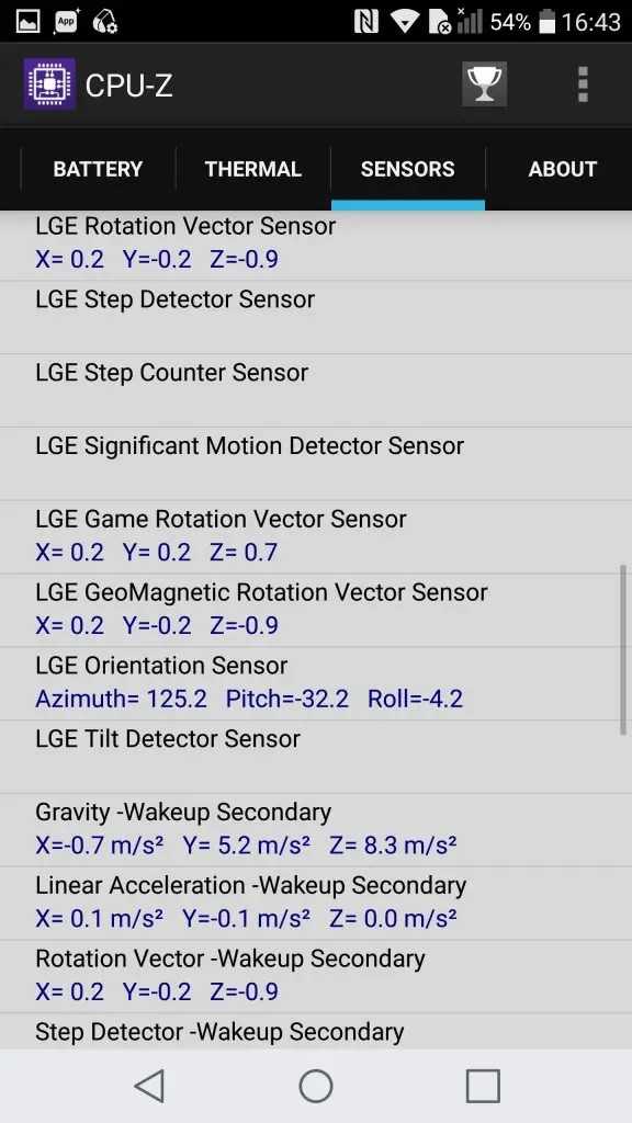 LG V20 Pro CPU-Z Sensors3