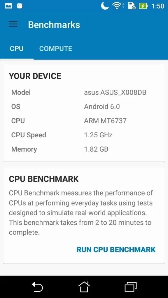 ASUS Zenfone Max 3 Geekbench Device