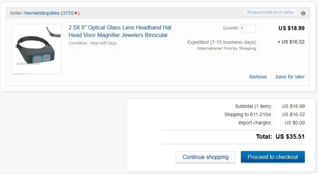 Your eBay Shopping Cart