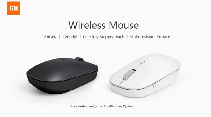 XIAOMI 1200DPI 2.4GHz 4 Buttons Wireless Optical Mouse For PC Laptop お色