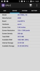 AGM A8 CPU-Z Device