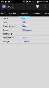 AGM A8 CPU-Z Battery