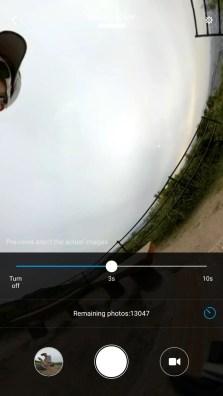 Mi Sphere Cameraアプリ タイマー