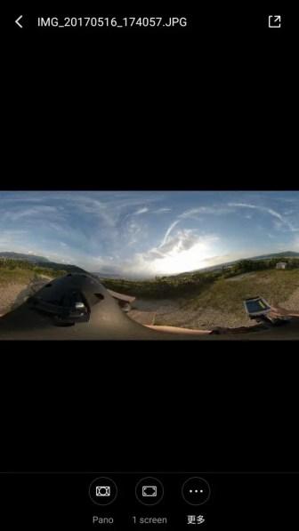 Mi Sphere Cameraアプリ Pano