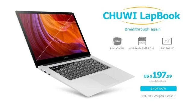 Chuwi LapBook Intel Cherry Trail Z8350 クーポン
