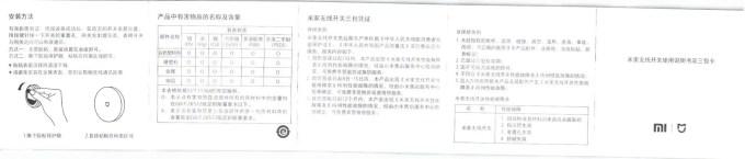 Xiaomi mijia スマートホームセキュリティキット 取説 湿温度計
