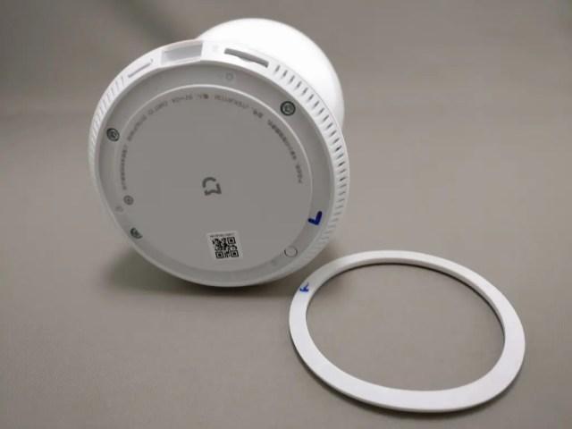 Xiaomi 360度パノラマ1080P IPカメラ 裏 据え置き型 ゴム取る