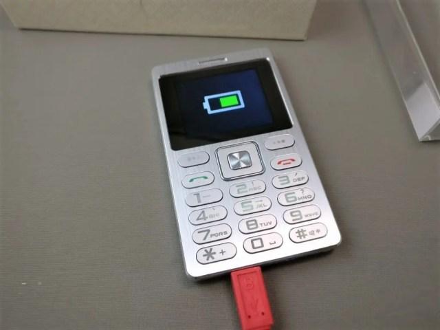 SATREND A10 GSM ミニカードフォン MicroUSB充電
