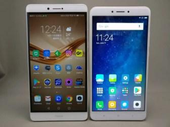 Xiaomi Mi Max 2 他スマホ比較 表 2台