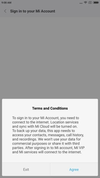 Mi unlock statas Add account and device