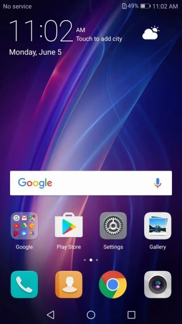 Huawei honor 6X 英語ホーム画面