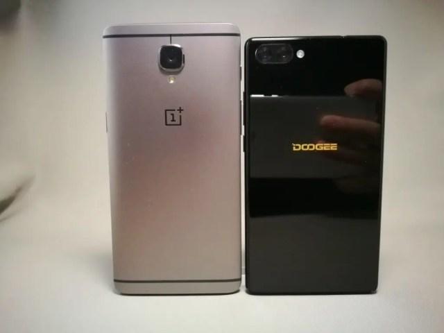 DOOGEE MIX・Xiaomi OnePlus3T 裏